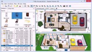 SmartDraw Palno en computadore de una casa