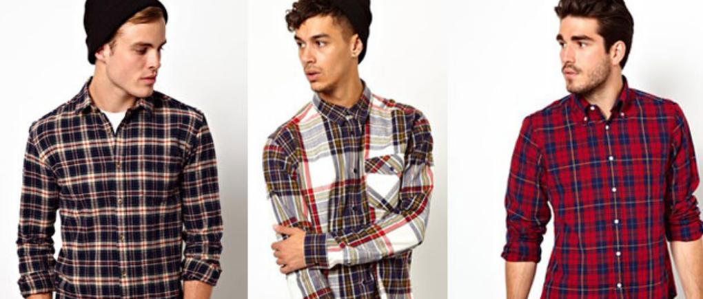 hombres usando camisa a cuadros