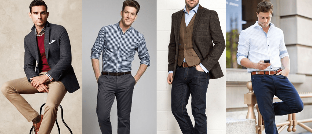 Hombres con ropa casual.