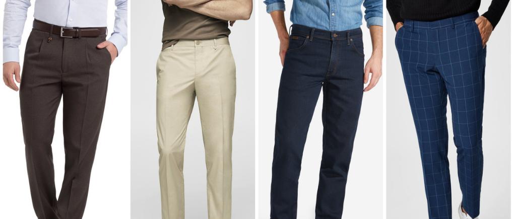 Hombre con diferentes estilos de pantalón d vestir