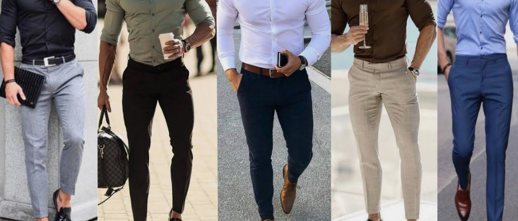 Hombre con pantalón de vestir.