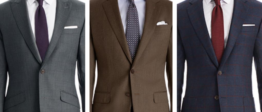 diferentes colores de trajes de vestir