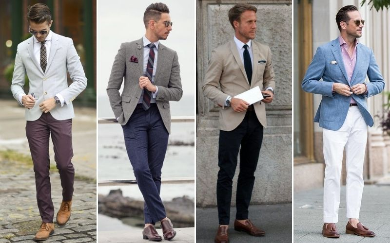 Hombre con pantalones de vestir.